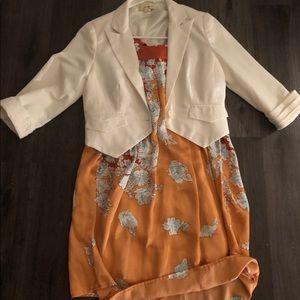 VOOM by Joy Han. 100% Silk Shirt Dress.
